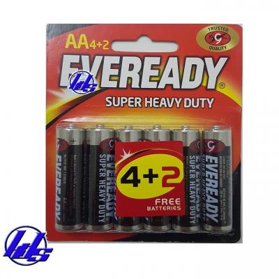 Pin AA Eveready 1215-BP6 Heavy Duty 1.5V - Vỉ 6 viên