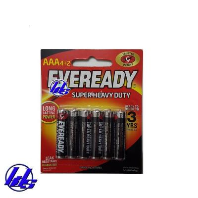 Pin AAA Eveready 1212-BP6 Heavy Duty 1.5V - Vỉ 6 viên
