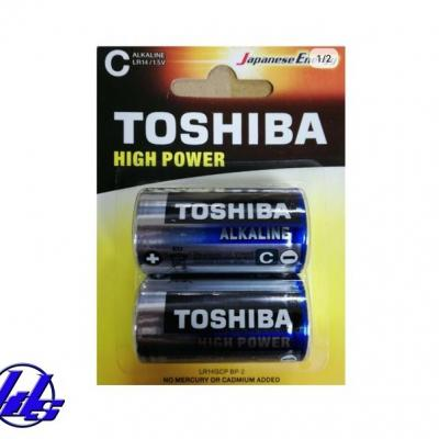 Pin trung C Toshiba High Power Alkaline - Vỉ 2 viên