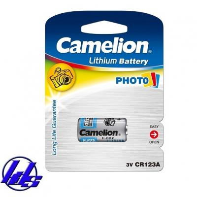 Pin CR123, CR123A Camelion Photo Lithium 3V - Vỉ 1 viên